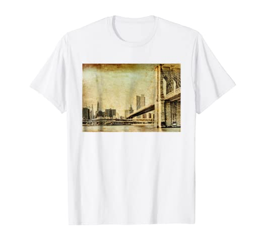 af8839b7 Image Unavailable. Image not available for. Color: Brooklyn Bridge New York  City USA Love NYC Gift T-Shirts