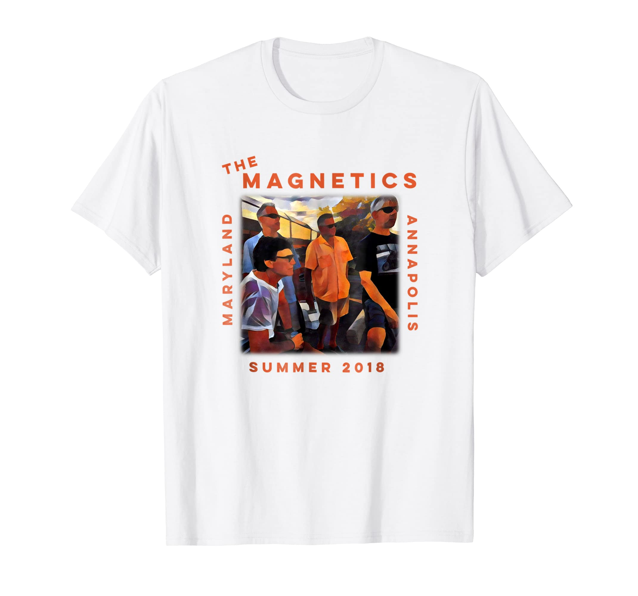 a79191c413b Amazon.com  Magnetics Official Summer 2018 Band T-shirt  Clothing