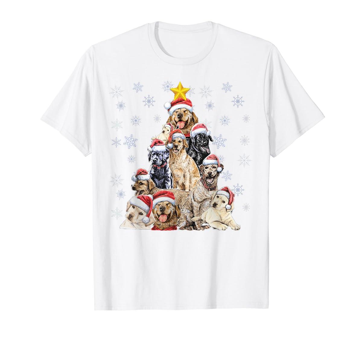 Labrador Retriever Dog Christmas Funny T-Shirt-Men's T-Shirt-White
