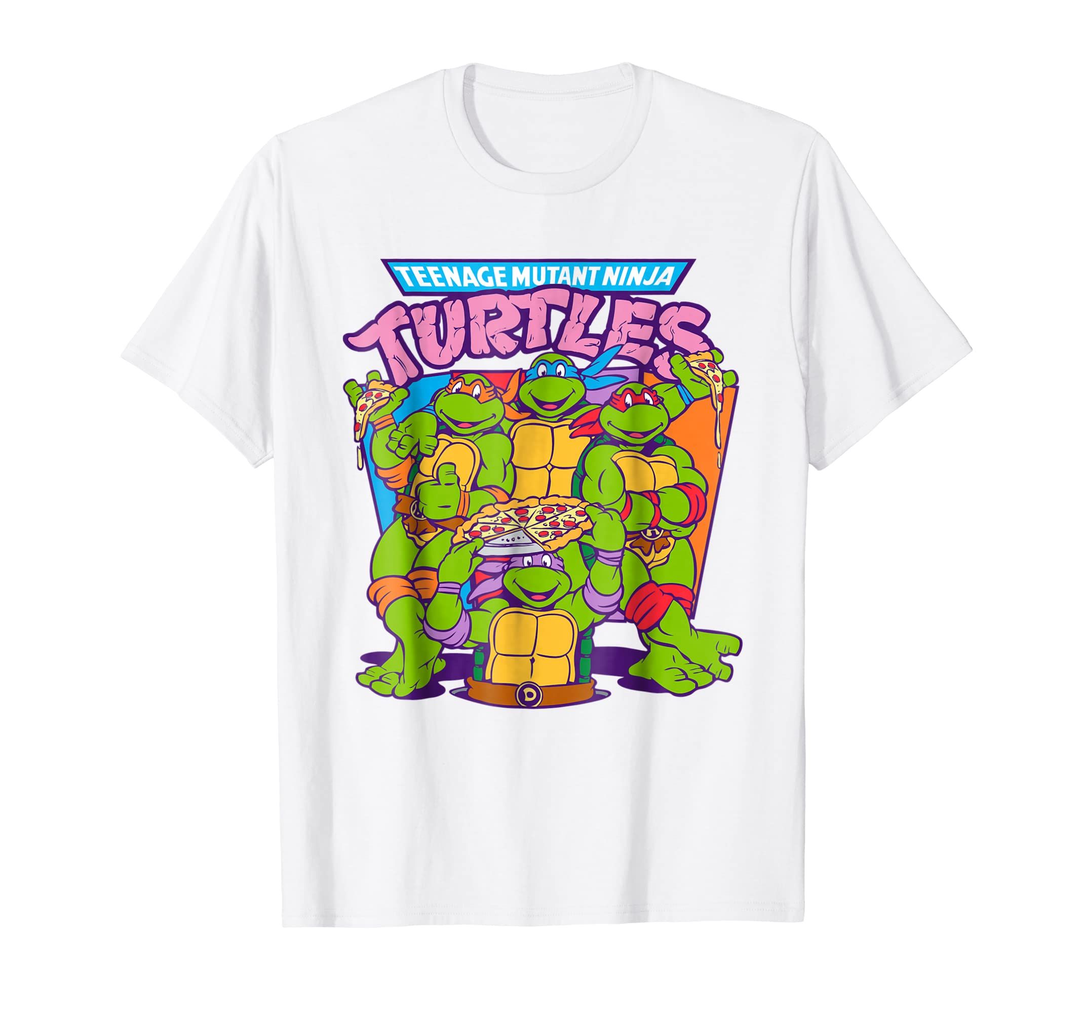 bb6a269013290 Amazon.com  Teenage Mutant Ninja Turtles Pizza   Smiles T-Shirt  Clothing