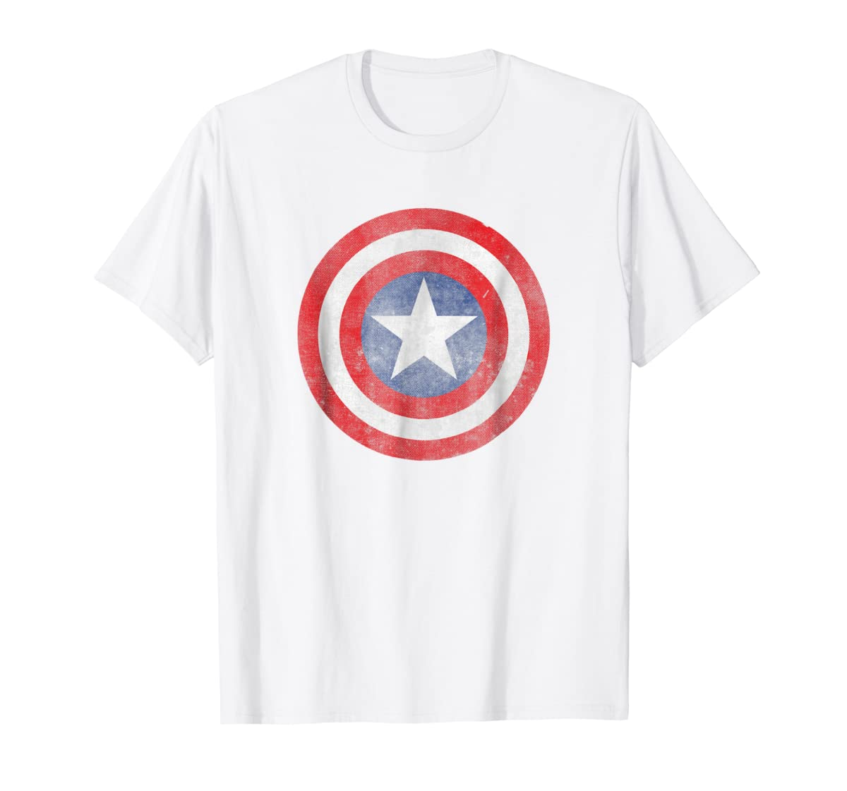 Marvel Captain America Classic Shield Graphic T-Shirt-Men's T-Shirt-White