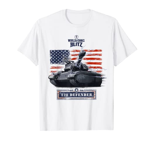 Amazon com: World of Tanks Blitz T28 Defender T-Shirt: Clothing
