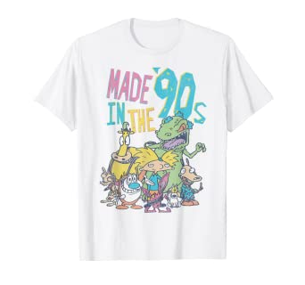 ed825b5ddc8e Amazon.com: Nickelodeon Made In the 90s Character T-Shirt: Clothing