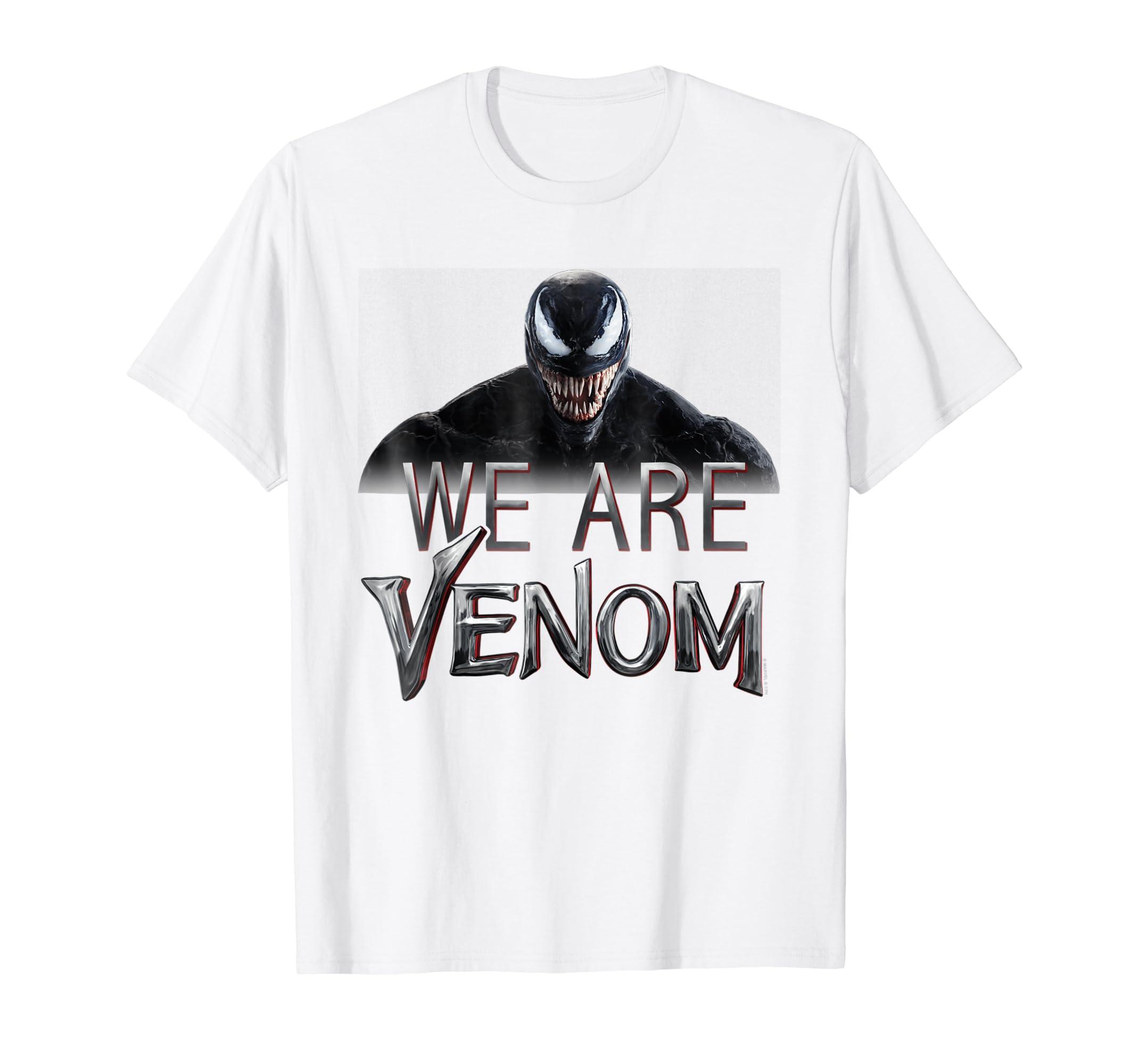 Venom Grin Vector: Venom We Are Venom Big Grin Graphic T Shirt-4LVS