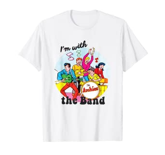 0a55613d096e2 Amazon.com: I'm With The Band Archie Comics T-Shirt: Clothing