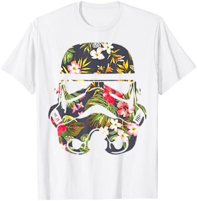 스타워즈 트로피컬 스톰트루퍼 플로럴 프린트 티셔츠 C1