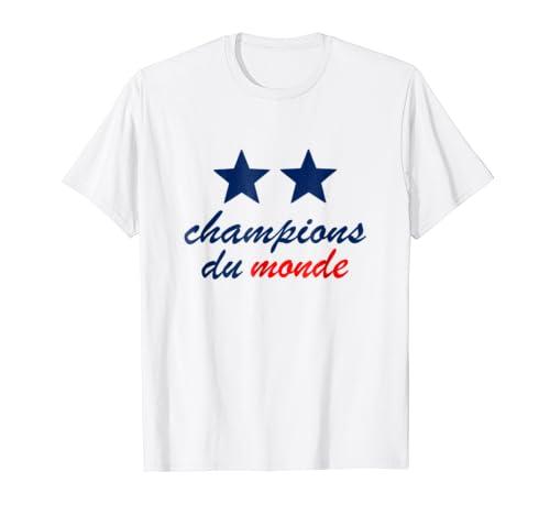 Amazon Com France World Champions Du Monde 2018 T Shirt Clothing