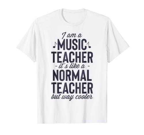 36f30f27 I am a Music Teacher T shirt Musical School Teachers Gift | MultiMv ...