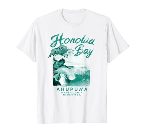 Hawaii Honolua Bay Maui Vintage Hawaiian Surfing T Shirt