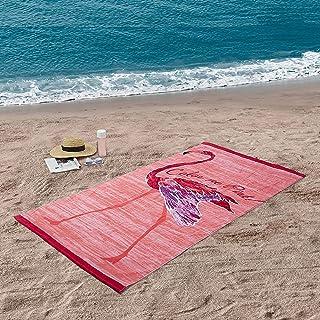 Better Homes & Gardens 100% Cotton Color Me Pink Flamingo Beach Towel