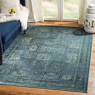 Safavieh Vintage Premium Collection VTG127-2220 Transitional Oriental Turquoise and Multi Panels Silky Viscose Area Rug (8'10