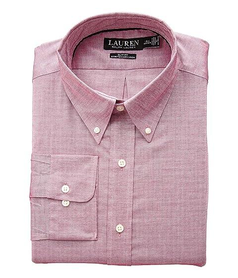 b83e8b7ae95 LAUREN Ralph Lauren Slim Fit Non Iron Stretch Pinpoint Dress Shirt ...