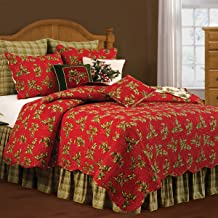 C & F Home, Holly Red Standard Holiday Sham, 21x27