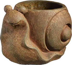 Classic Home and Garden 9/3471R/1 Snail Planter, Small, Rust