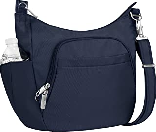 Travelon Anti-Theft Classic Crossbody Bucket Bag, Midnight (Black) - 42757 360
