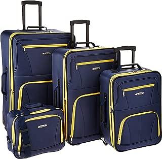 Luggage 4 Piece Set, Navy, One Size
