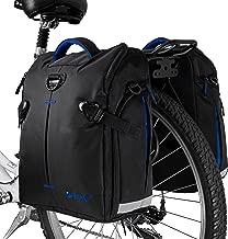 poign/ée de Transport Garniture r/éfl/échissante de 3M et Grandes Poches BV Sacoches de v/élo Bike Bag Bycicle Panniers avec des Crochets r/églables