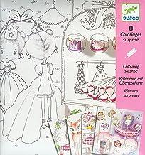 Djeco 599386031 - Libro de Colorear Las pequeñas Puertas de pupi