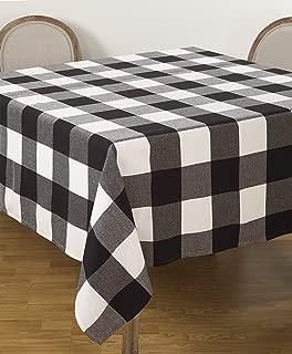 SARO LIFESTYLE Buffalo Plaid Check Design Cotton Tablecloth, 90