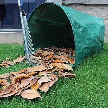 Gardzen 2-Pack Large Yard Dustpan-Type Garden Bag for Collecting Leaves - Reuseable Heavy Duty Gardening Bags, Lawn P...