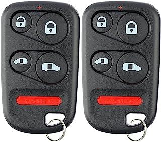 KeylessOption Keyless Entry Remote Car Key Fob Clicker for Honda Odyssey E4EG8DN (Pack of 2)