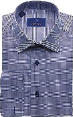 Regular Fit Long Sleeve Glen Plaid Dress Shirt