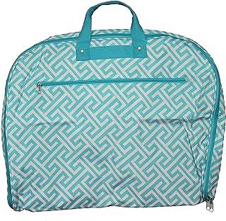 World Traveler World Traveler 40-inch Hanging Garment Bag - Greek Key H Blue White, Greek Key H Blue White (Blue) - 81GM40-185LT-W