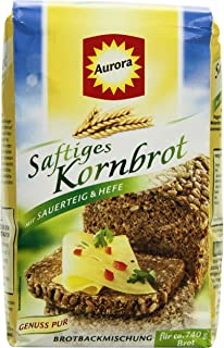 Aurora Saftkornbrot Brotbackmischung,6er Pack 6 x 500 g