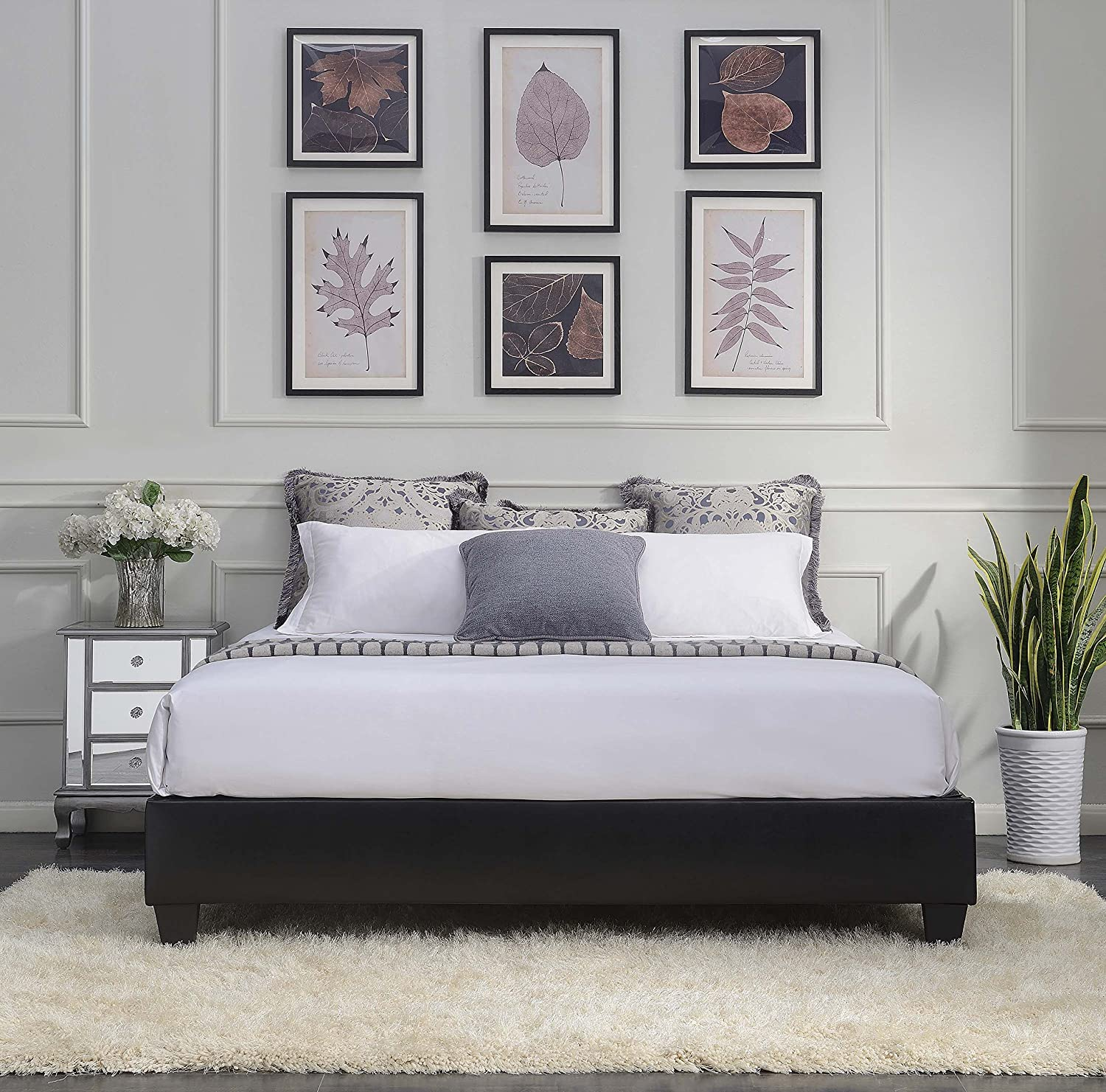 Max 48% OFF Picket Time sale House Furnishings Abby King Contemporary Bed Bla Platform