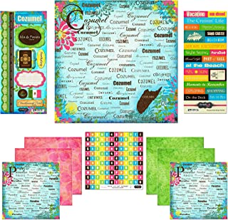 Scrapbook Customs Themed Paper and Stickers Scrapbook Kit, Cozumel Paradise