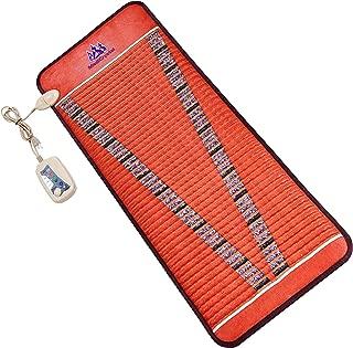"MediCrystal Far Infrared Bio Magnetic Mat - 59""L x 24""W - Natural Amethyst + Tourmaline - Adjustable PEMF Frequency 1-30 Hz - FIR Heating 86°-158°F -FDA Registered Manufacturer - Midsize Hot Stone Pad"