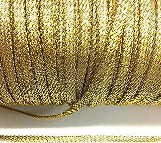 Thick Gold Metallic Flat Twisted Braid 1/4