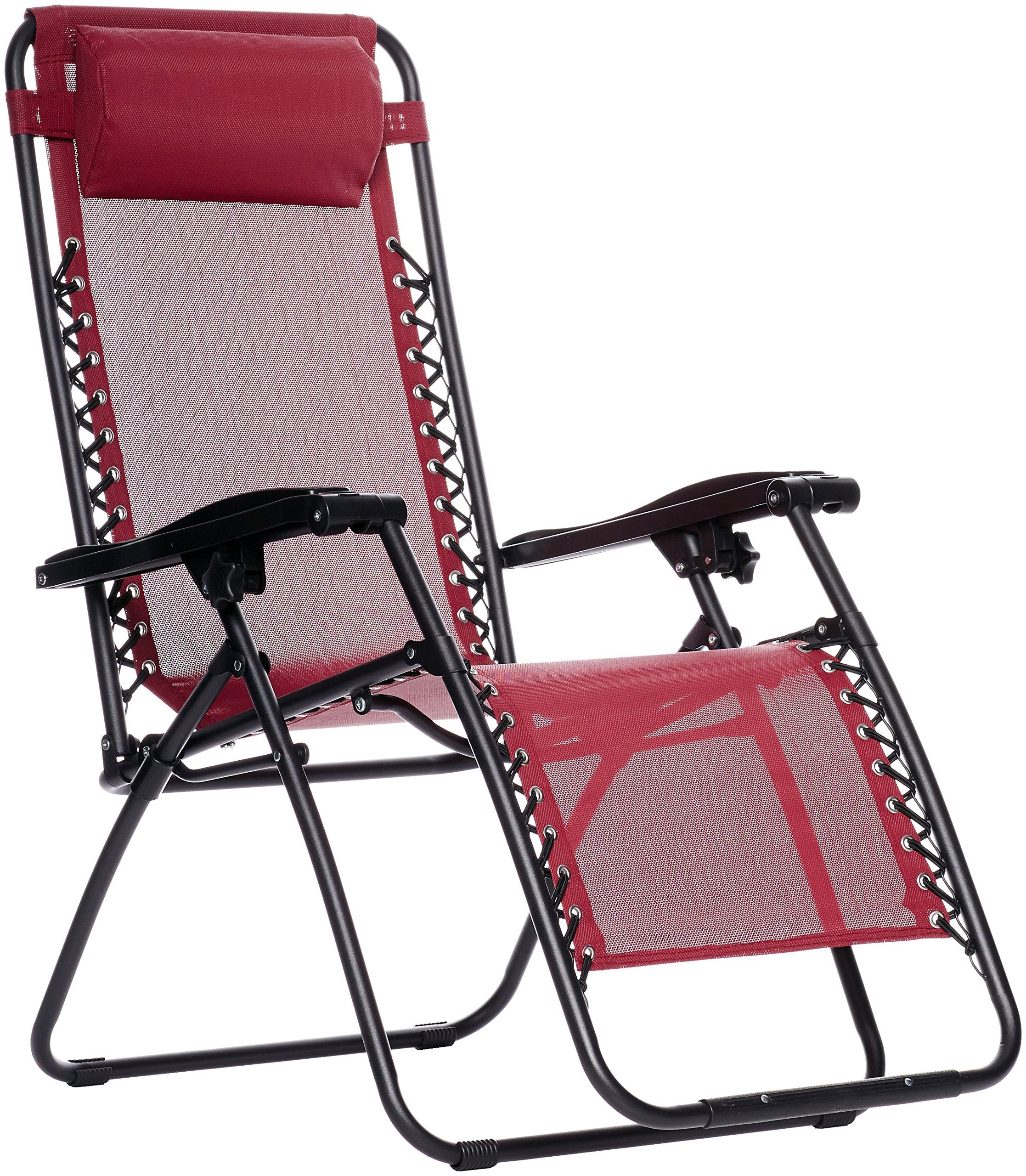 AmazonBasics Zero Gravity Chair Burgundy