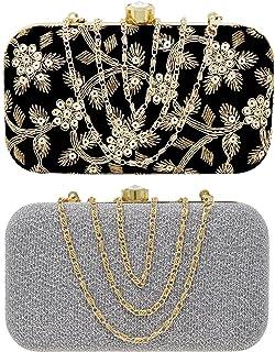 Ailtino Girls Box Clutch Combo Set Bag with sling chain