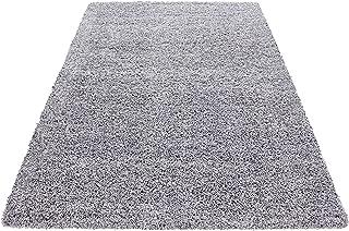 Schlingenteppich 160 x 200 cm Wohnzimmer Kinderzimmer Spielteppich Kurzflor Grau