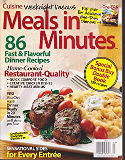Cuisine Weeknight Menus Meals in Minutes & One-Dish Recipes 2 Sided Magazine Fall 2016
