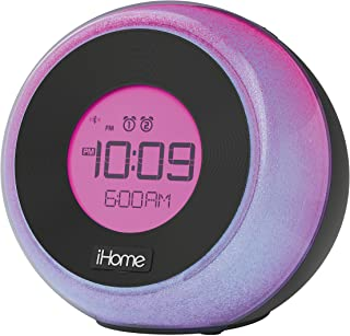 iHome iBT290B Bluetooth Color Changing Dual Alarm FM Clock Radio with Speakerphone & USB Charging - Featuring Melody, Voic...