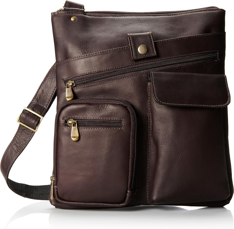 David King & Co. Multi Pocket Cross Bag, Cafe, One Size