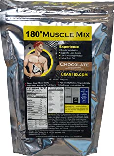 180 Muscle Mix, Best Weight Loss Protein Shake for Men, Burns Fat, Helps Build Muscle, Boosts Energy, Tastes Great, 31 Shakes per Bag (Chocolate)