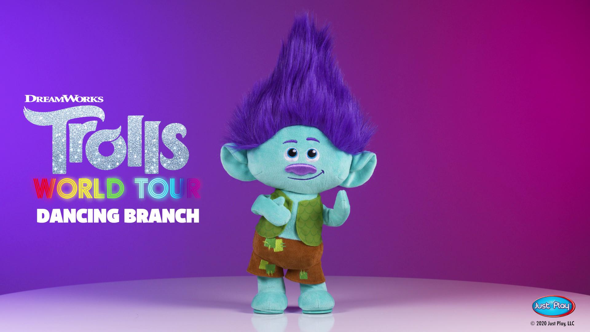 Trolls World Tour Dancing Branch Feature Plush – Amazon Exclusive