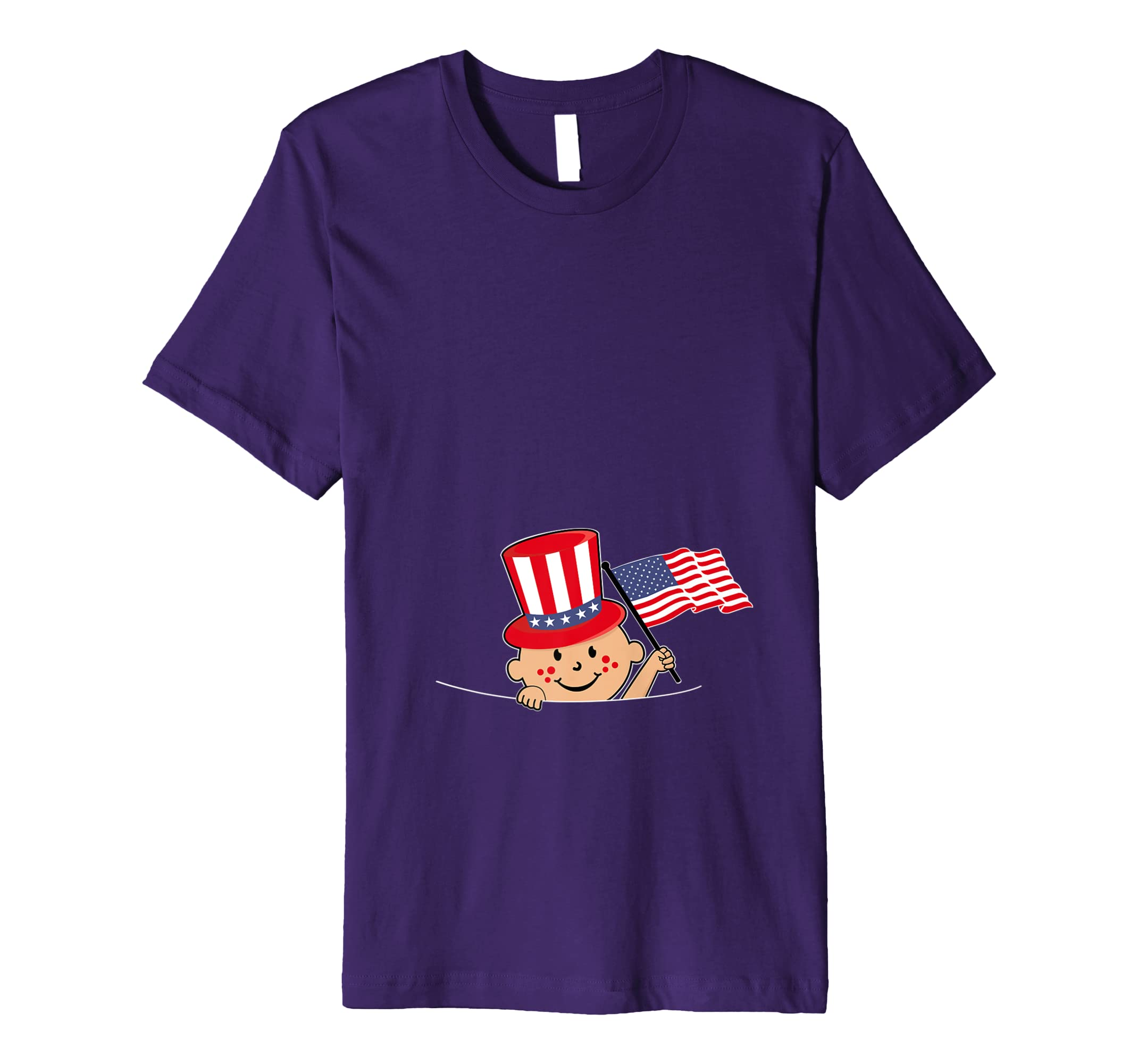 edd07886fe8cd Amazon.com: Funny Pregnancy Reveal T Shirt 4th of July Baby Announcement:  Clothing