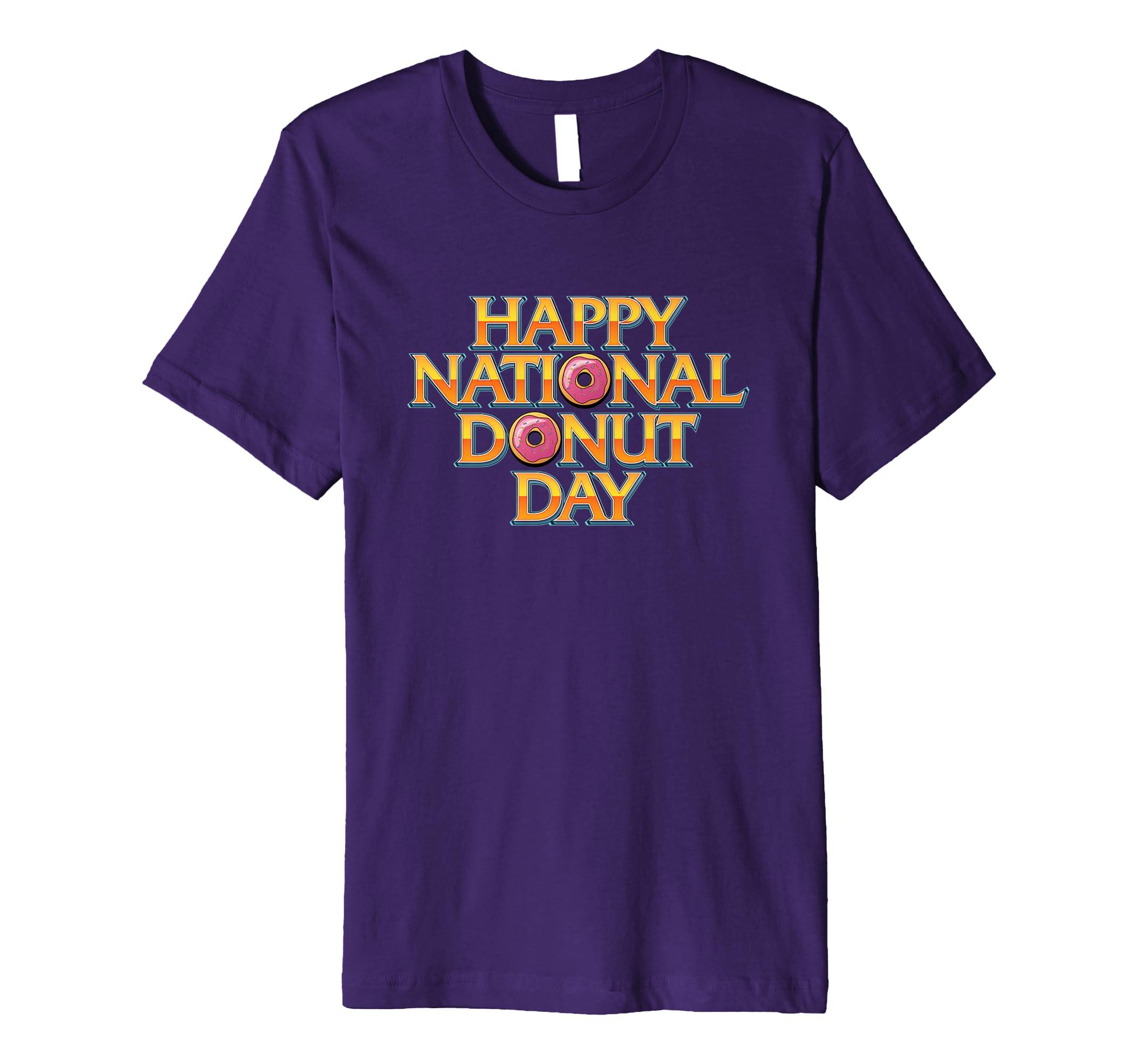 'Happy National Donut Day!' National Doughnut Day Food Shirt-AZP