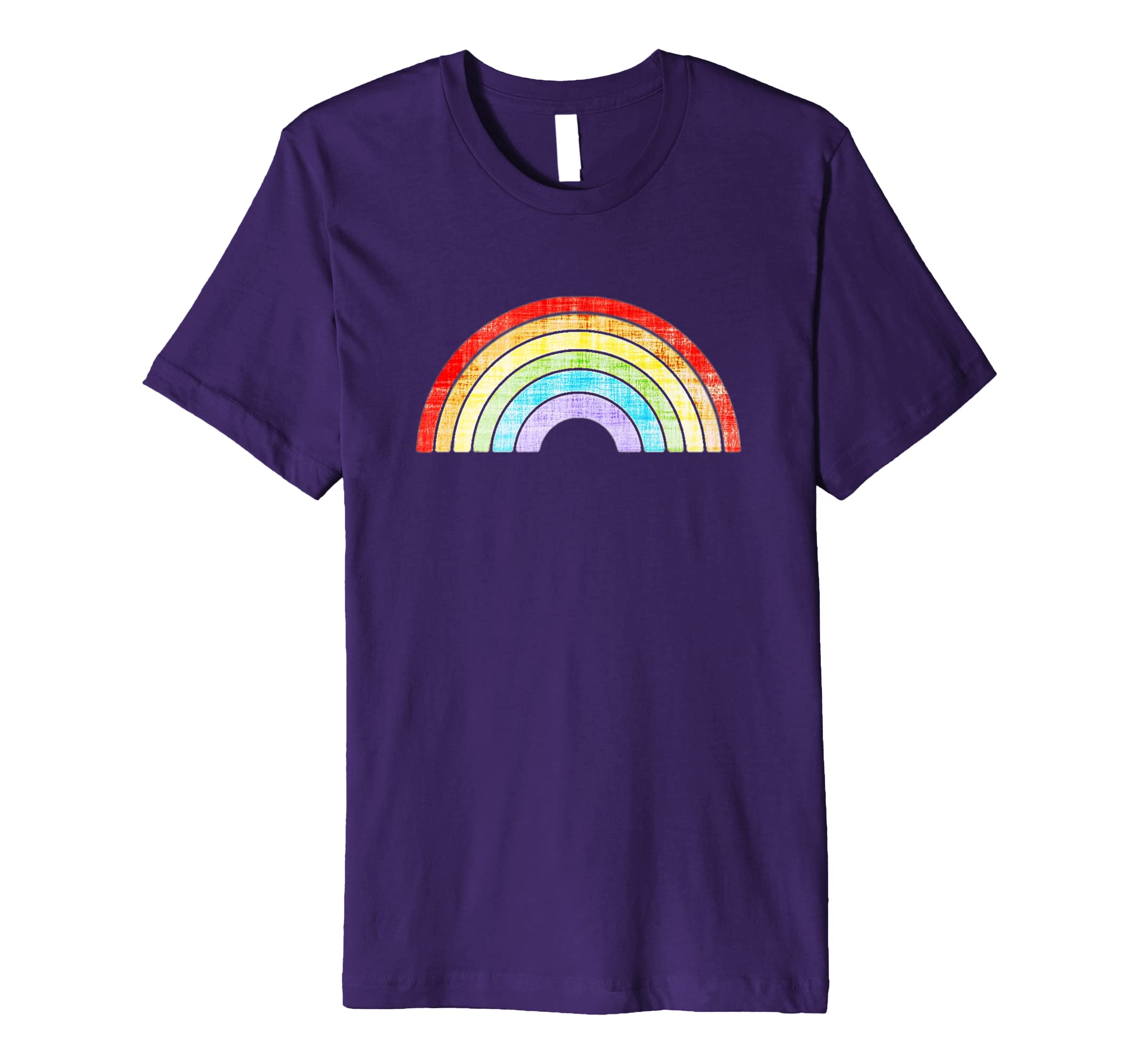 289df038 Amazon.com: Vintage Retro Rainbow Gay Pride T Shirt Men Women Gift: Clothing