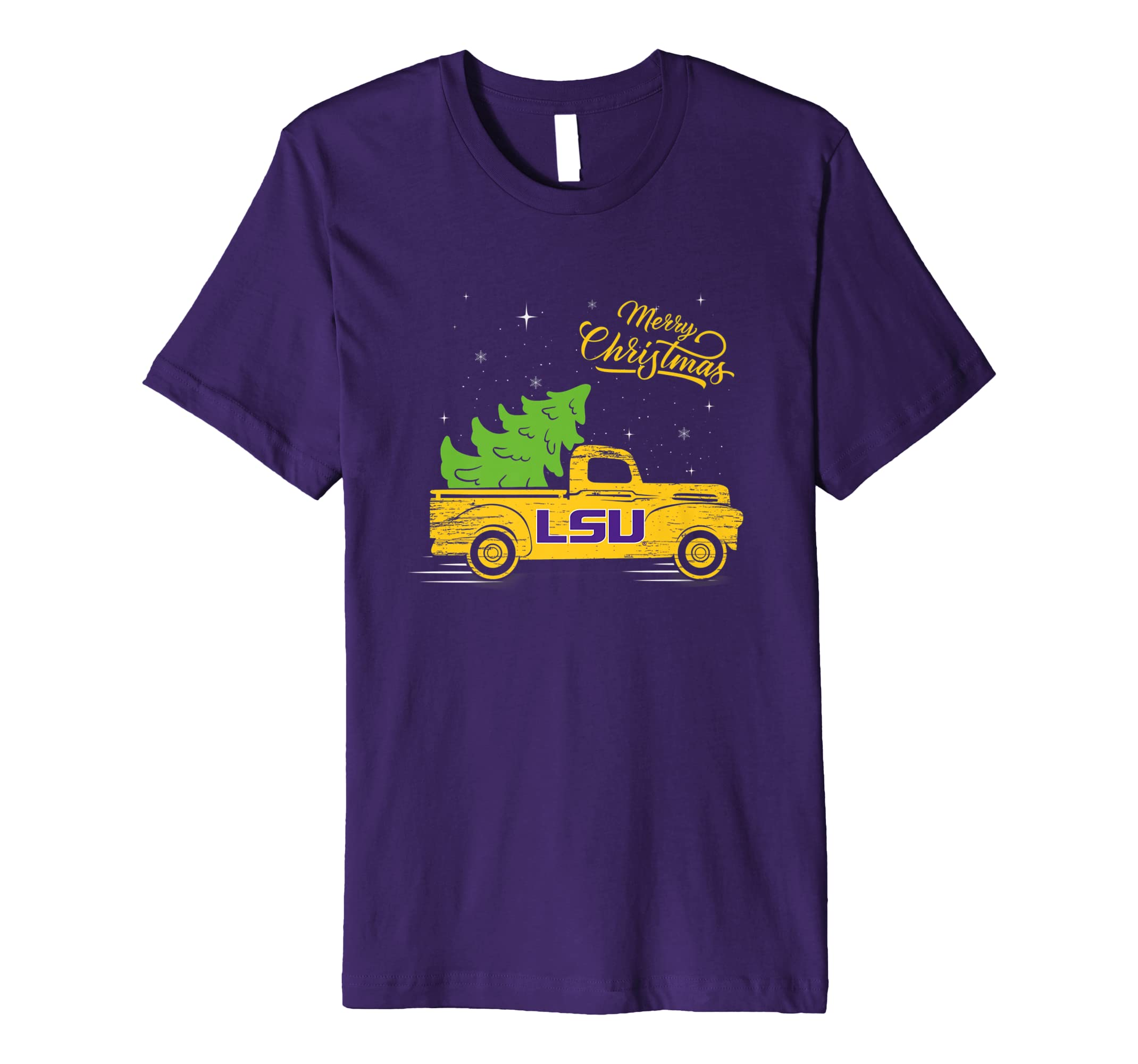 LSU Tigers Christmas Truck T Shirt   Apparel-azvn