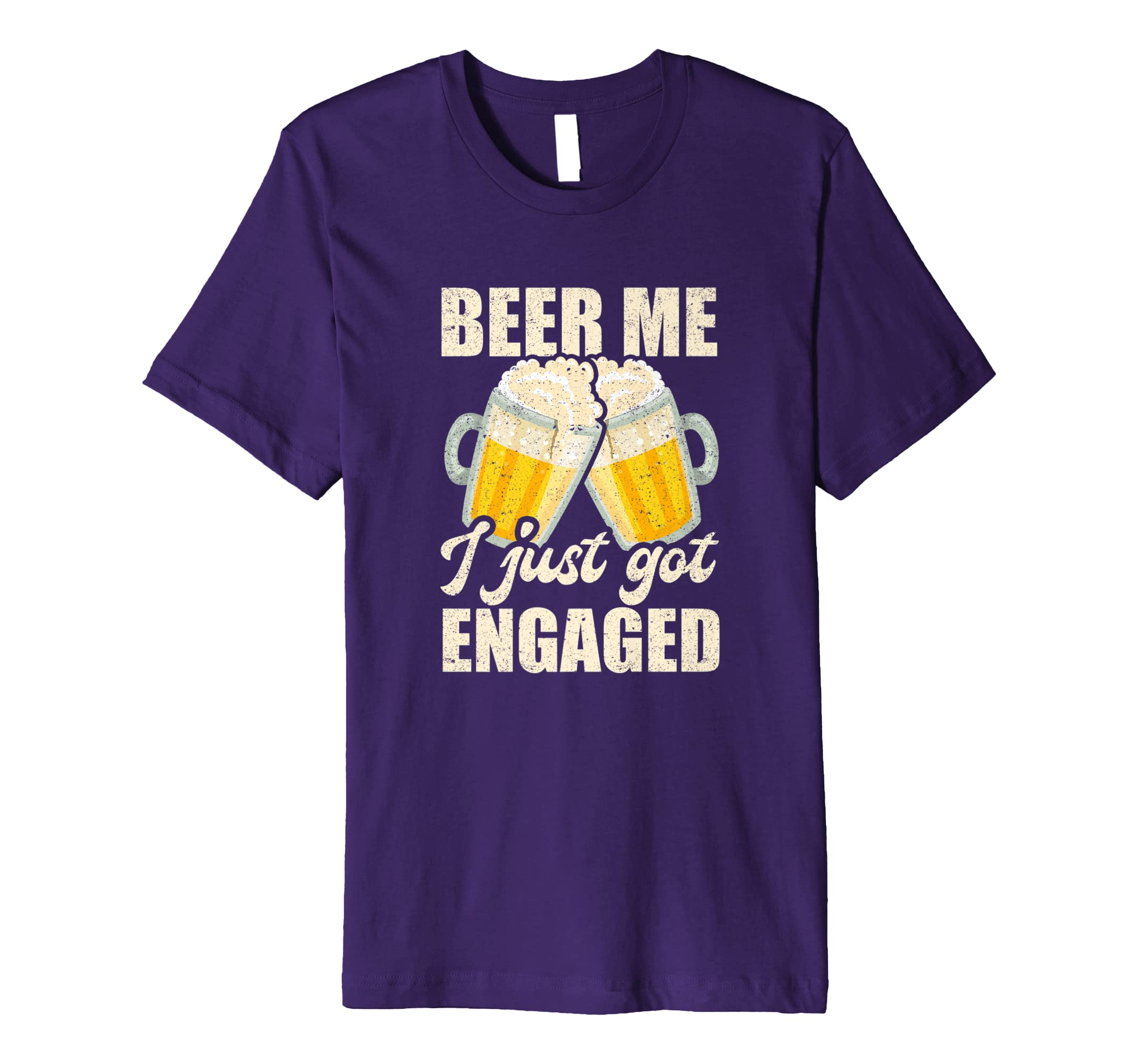 ffc8de5175 Amazon.com: Beer Me I Just Got Engaged Fiancee Couple Wedding Shirt:  Clothing