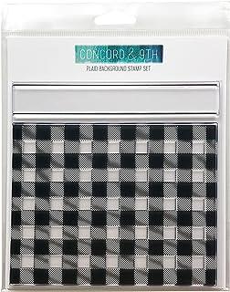 طوابع شفافة بخلفية منقوشة من كونكورد أند 9 إتش 6 × 6