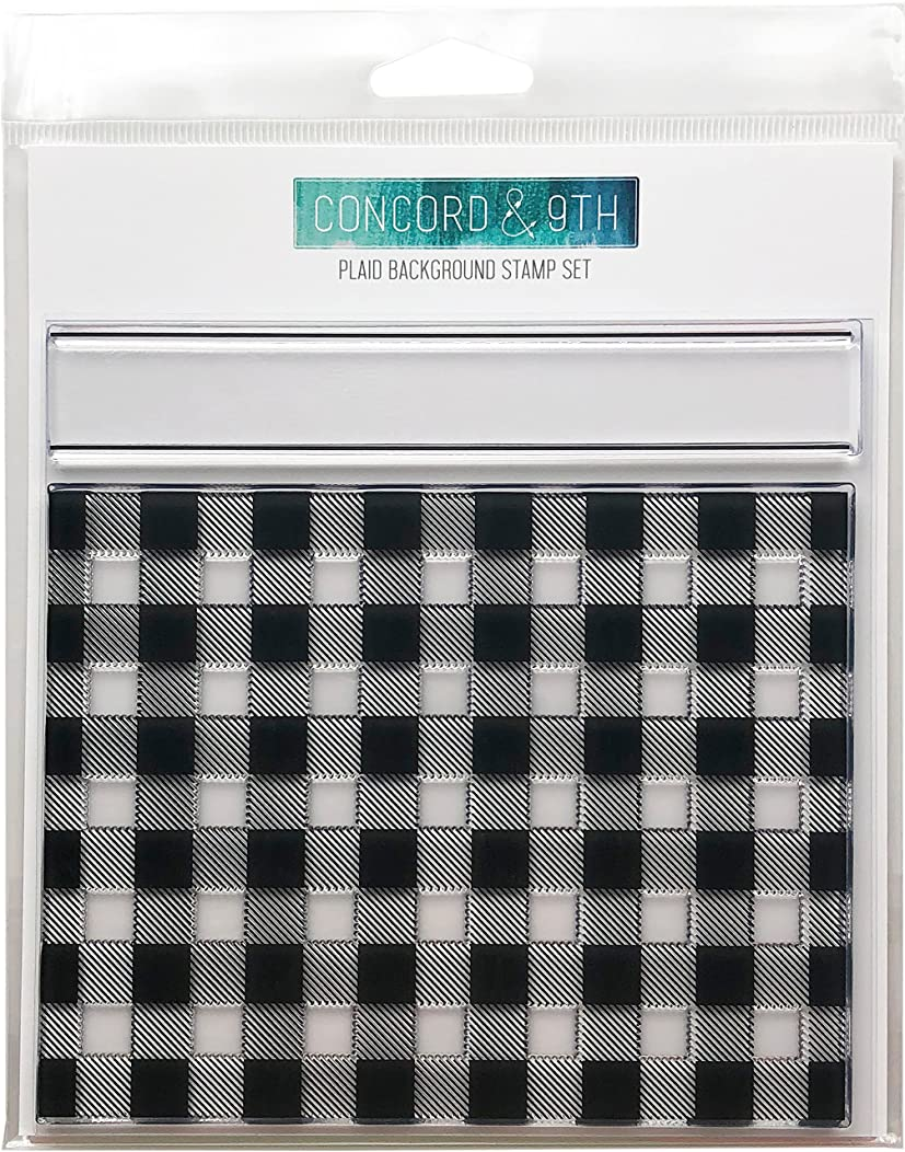 Concord & 9th Plaid Background Clear Stamps 6