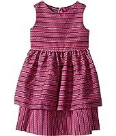 Oscar de la Renta Childrenswear Tweed Scallop Hem Layer Dress (Toddler/Little Kids/Big Kids)