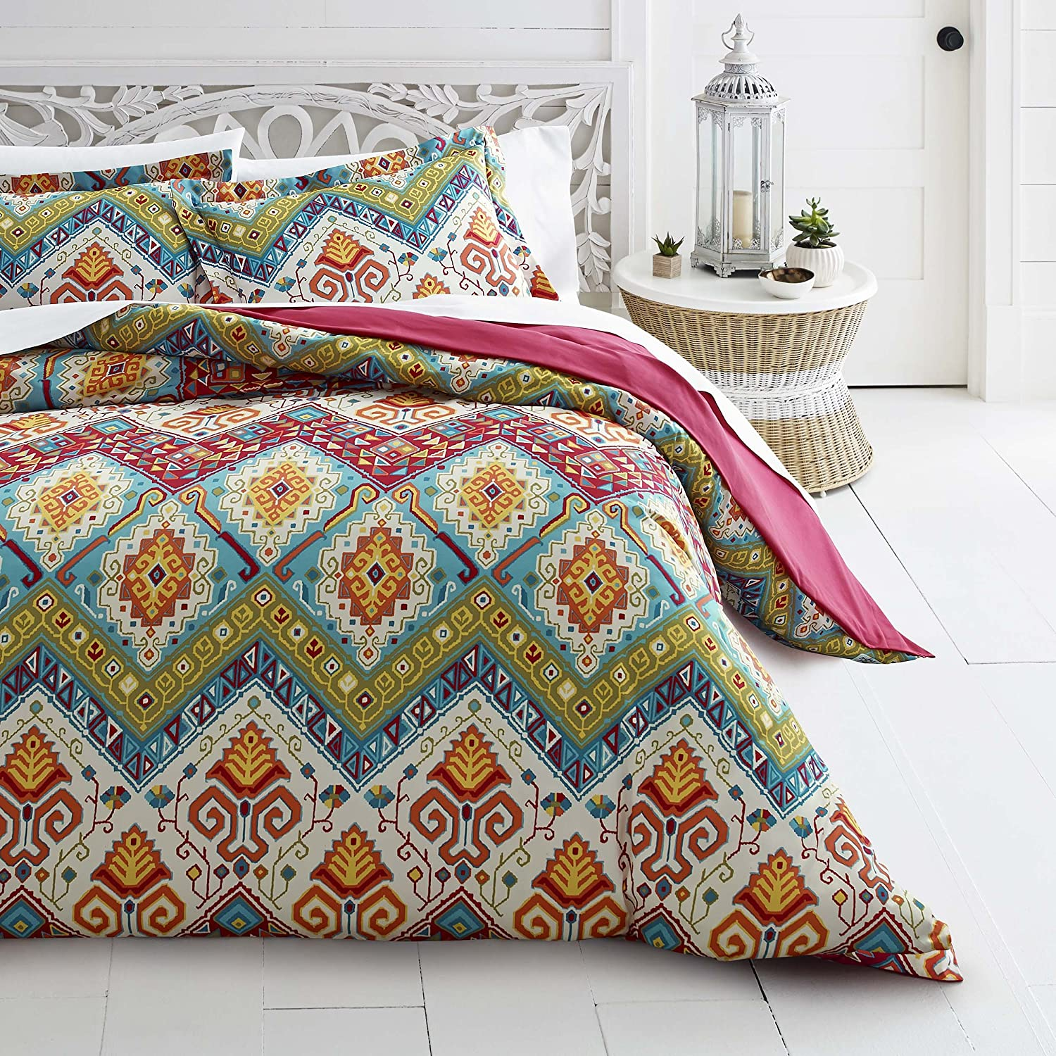 Azalea Skye Moroccan Nights Duvet Challenge the lowest price of Japan King Set Blue Safety and trust Cover
