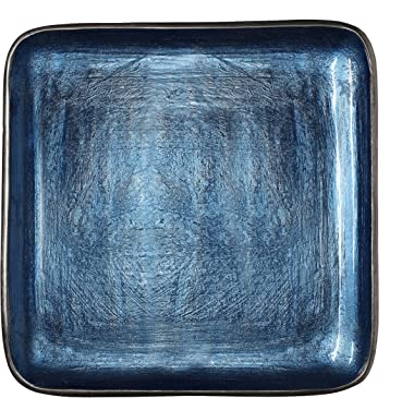 Melange Home Decor Square Tray Platter 12.25-inch Bowl, Color - Sky Blue